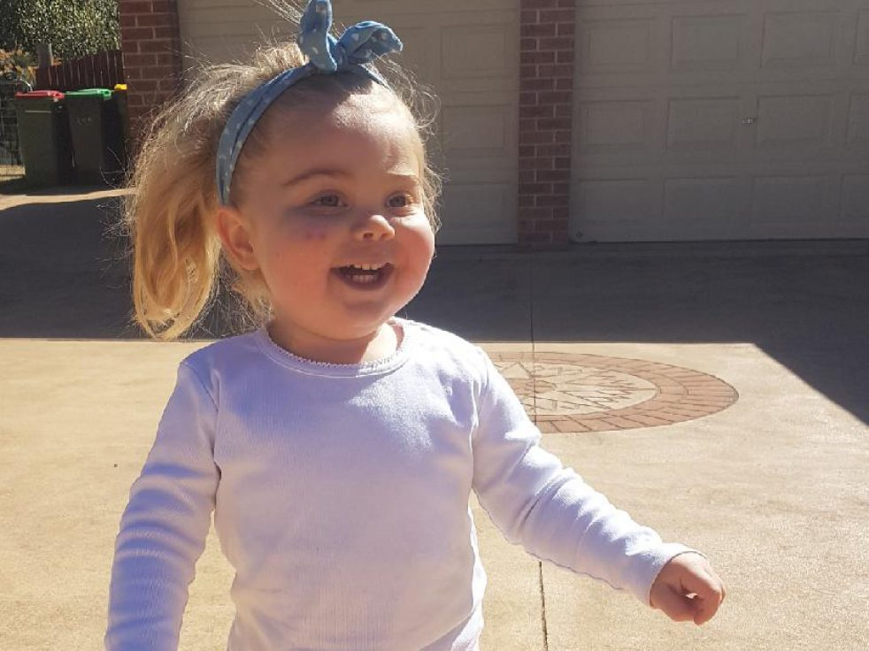 After successful treatment for CRMO at the Sydney Children's Hospitals Network, Georgia is walking again.