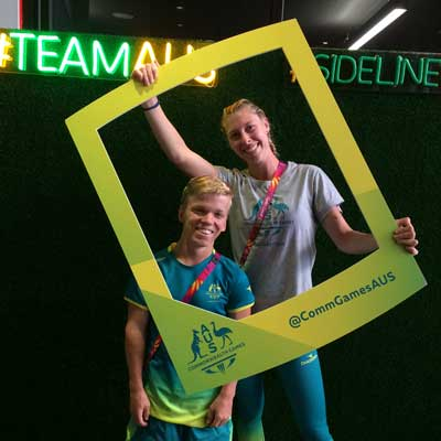 Rohan Bright in the spotlight forthe Commonwealth Games.